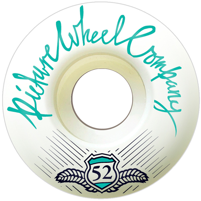 Picture Wheel Co Shield Series Conical Shape Aqua Wheels 52mm