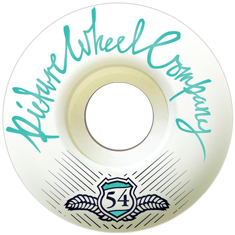 Picture Wheel Co Shield Series Conical Shape Teal Wheels 54mm