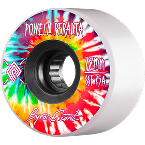 Powell Peralta Byron Essert Wheels White/Black 75A 72mm
