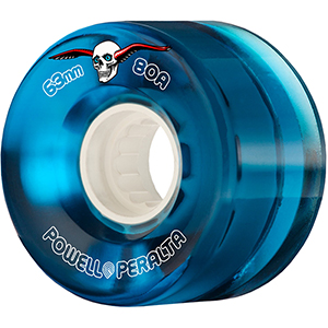 Powell Peralta Clear Cruiser Wheels Blue 80A 63mm