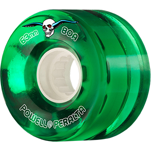 Powell Peralta Clear Cruiser Wheels Green 80A 63mm