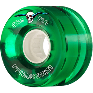 Powell Peralta Clear Cruiser Wheels Green 80A 66mm