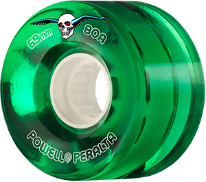 Powell Peralta Clear Cruiser Wheels Green 80A 69mm