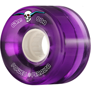 Powell Peralta Clear Cruiser Wheels Purple 80A 63mm