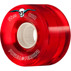 Powell Peralta Clear Cruiser Wheels Red 80A 55mm