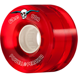 Powell Peralta Clear Cruiser Wheels Red 80A 63mm