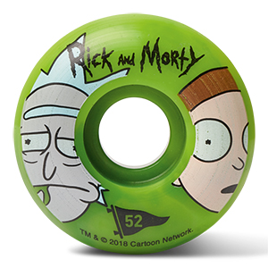 Primitive x Rick & Morty Swirl Wheels Green 52mm