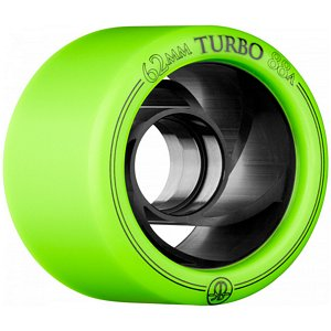RollerBones Turbo Speed/Derby Aluminum Hub Green Wheels 88A 62mm