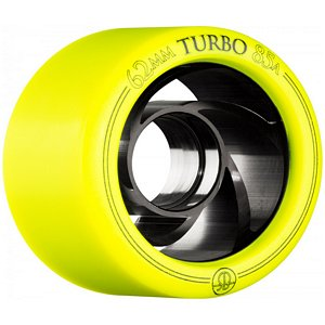 RollerBones Turbo Speed/Derby Aluminum Hub Yellow Wheels 85A 62mm