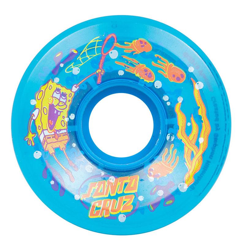 Santa Cruz x SpongeBob Jellyfishing Wheels 78A Blue 60mm