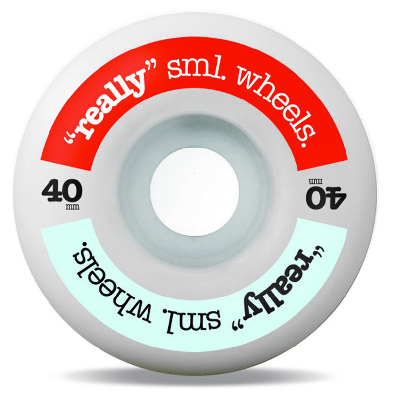 Sml. Really Sml Wheels Wheels Red/Sky 99A 40mm