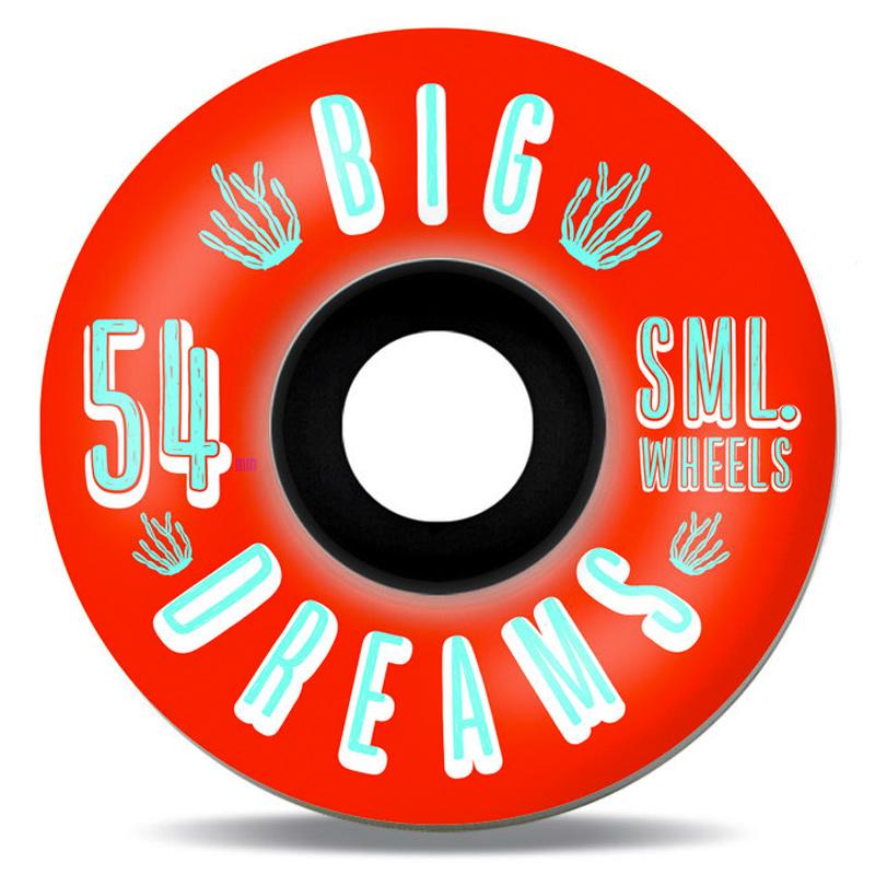 Sml. Succulent Fire Water V-Cut Cruiser Wheels 92A 54mm