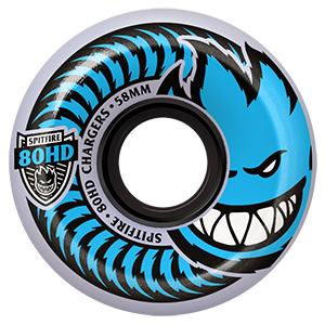 Spitfire Chargers Conical Wheels Clear 80HD 58mm