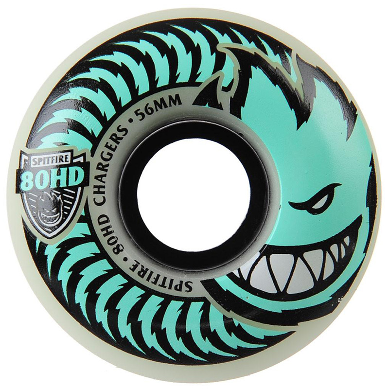 Spitfire 80HD Chargers Conicals Wheels Clear/Green 56mm