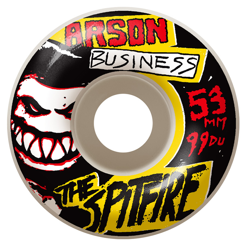 Spitfire Arson Business Wheel White 53mm