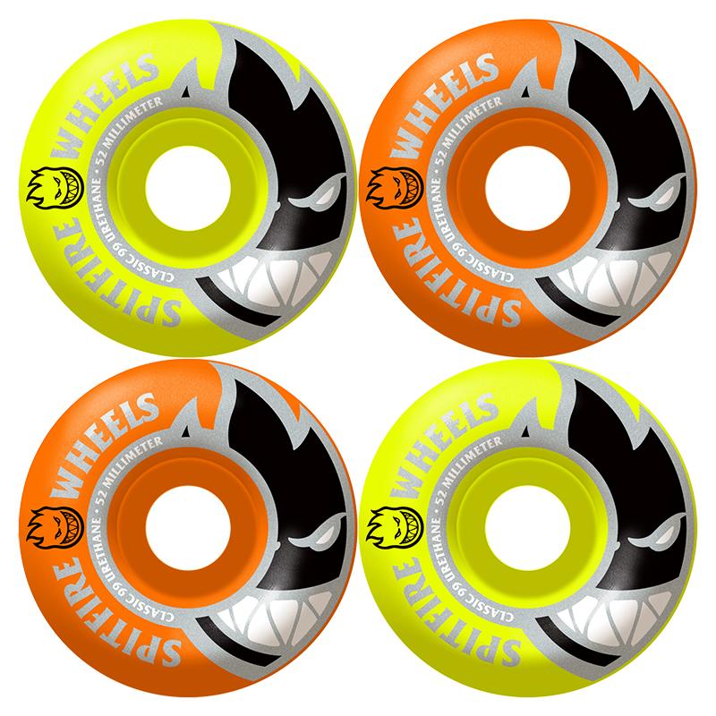 Spitfire Bighead Mashup Wheels 99D Orange/Yellow 53mm