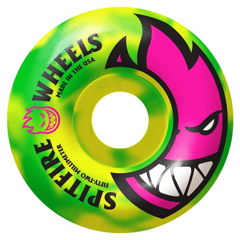 Spitfire Bighead Toxic Swirls Green/Yellow Wheel 99DU 54mm