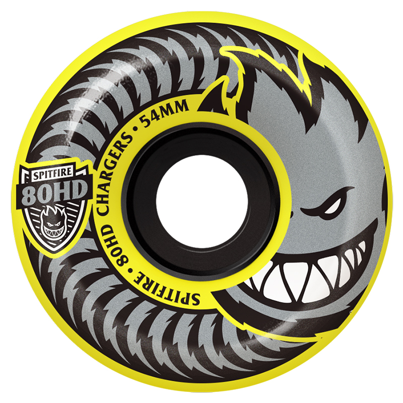 Spitfire Chargers Conical Wheels 80HD Yellow 54mm