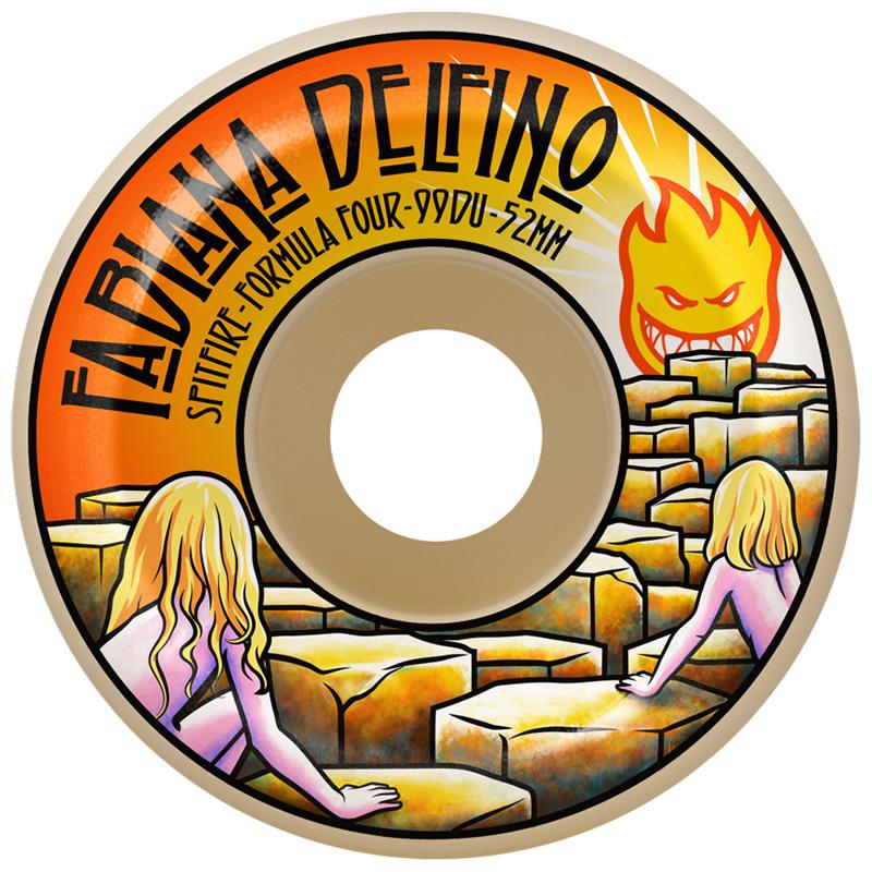 Spitfire Fabiana Delfino F4Conical Full Wheels Natural 99D 53mm