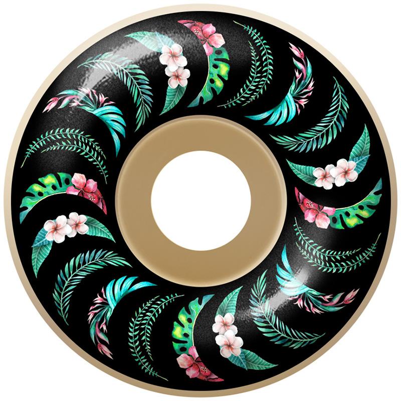 Spitfire Floral Swirl Formula Four 99D Classics Wheels Natural 52mm