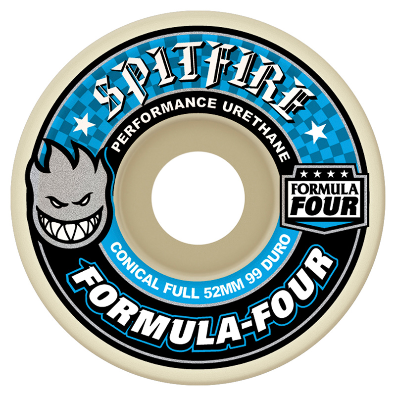 Spitfire Formula Four 99du Conical Full Wheels 52mm