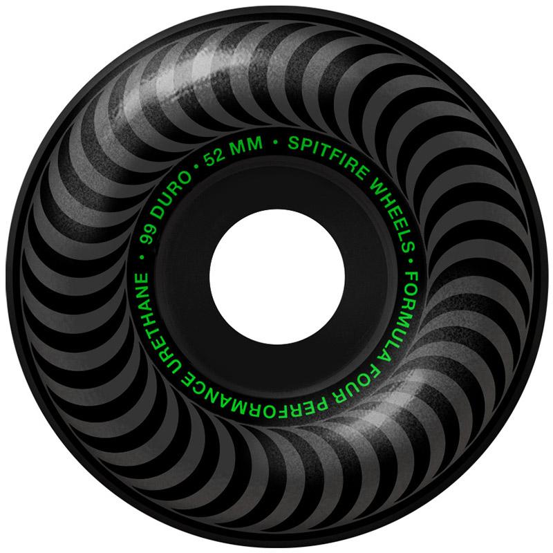 Spitfire Formula Four Blackout Classic Wheels 99D 52mm