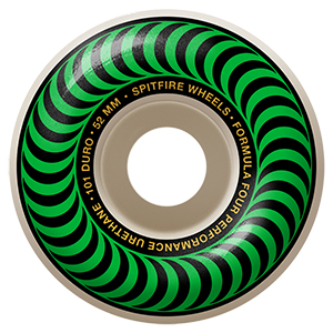 Spitfire Formula Four Classic Wheels 101A Green 52mm