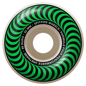 Spitfire Formula Four Classic Wheels 99D Green 52mm