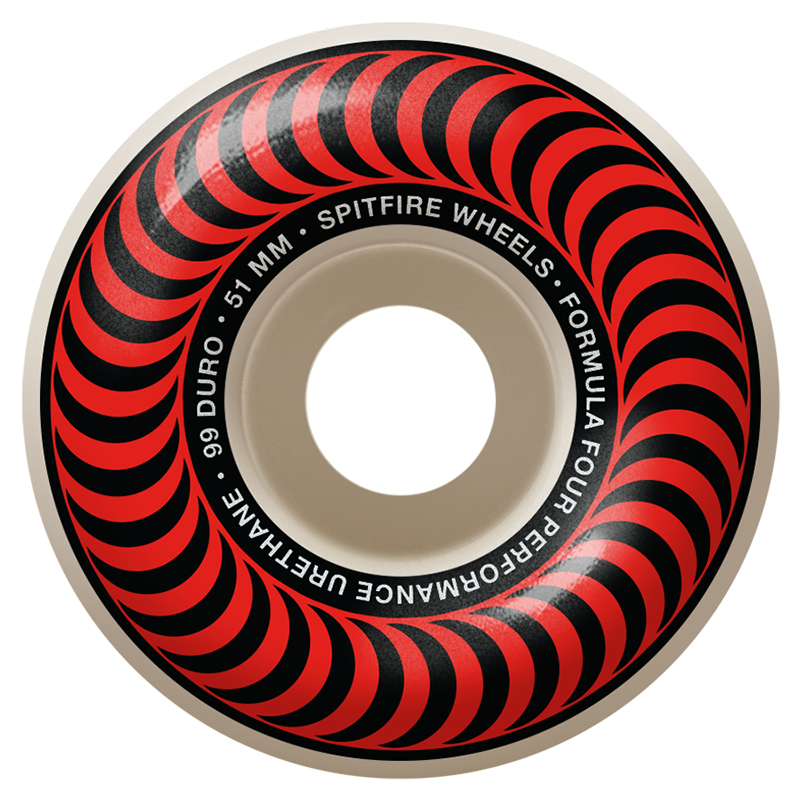 Spitfire Formula Four Classic Wheels 99D Red 51mm