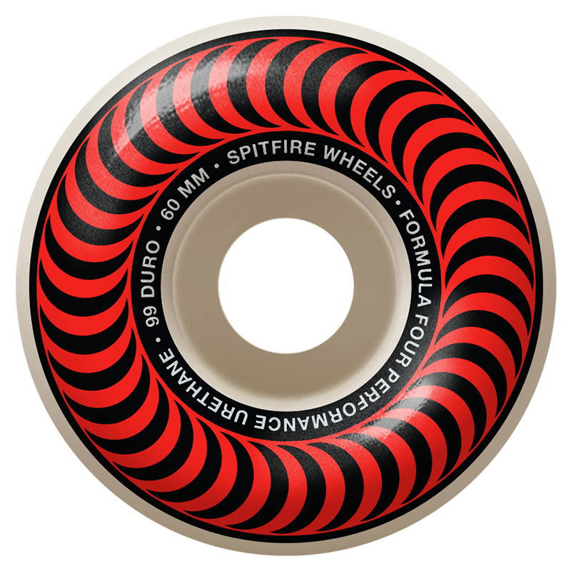 Spitfire Formula Four Classic Wheels 99D Red/Bronze 60mm