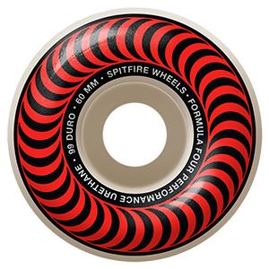 Spitfire Formula Four Classic Wheels 99D Red/Bronze 60mm
