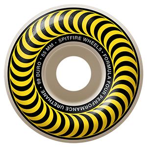 Spitfire Formula Four Classic Wheels 99D Yellow 55mm