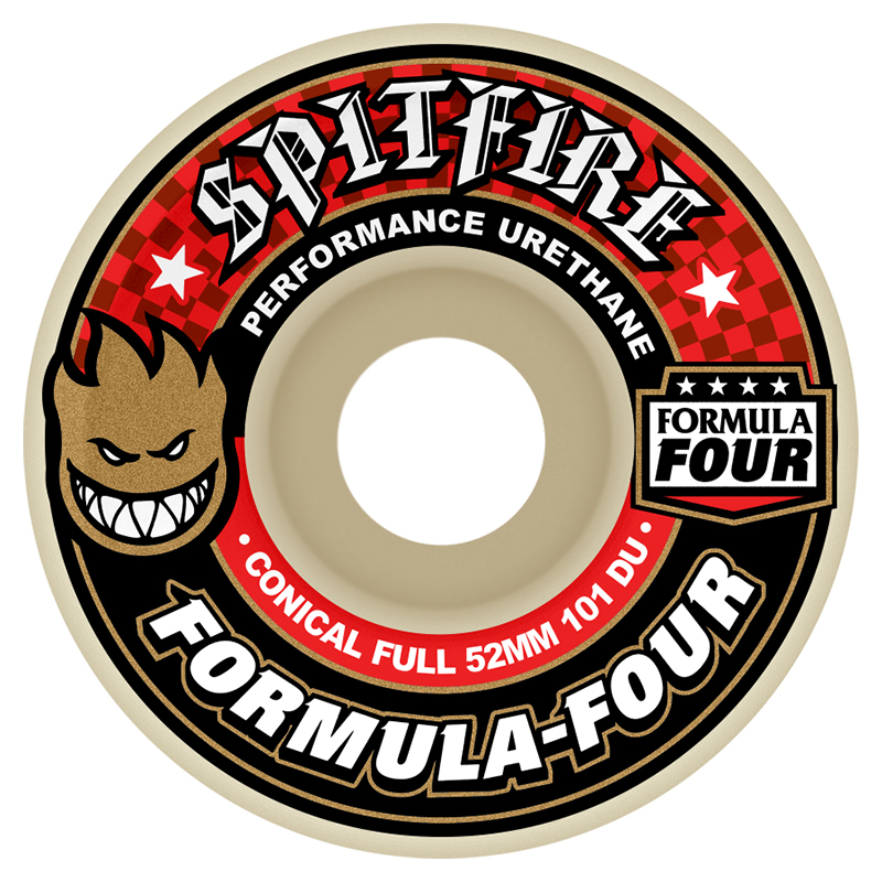 Spitfire Formula Four Conical Full Wheels 101D 54mm