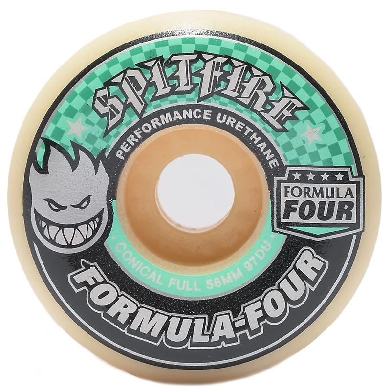 Spitfire Formula Four Conical Full Wheels 97D Natural 58mm