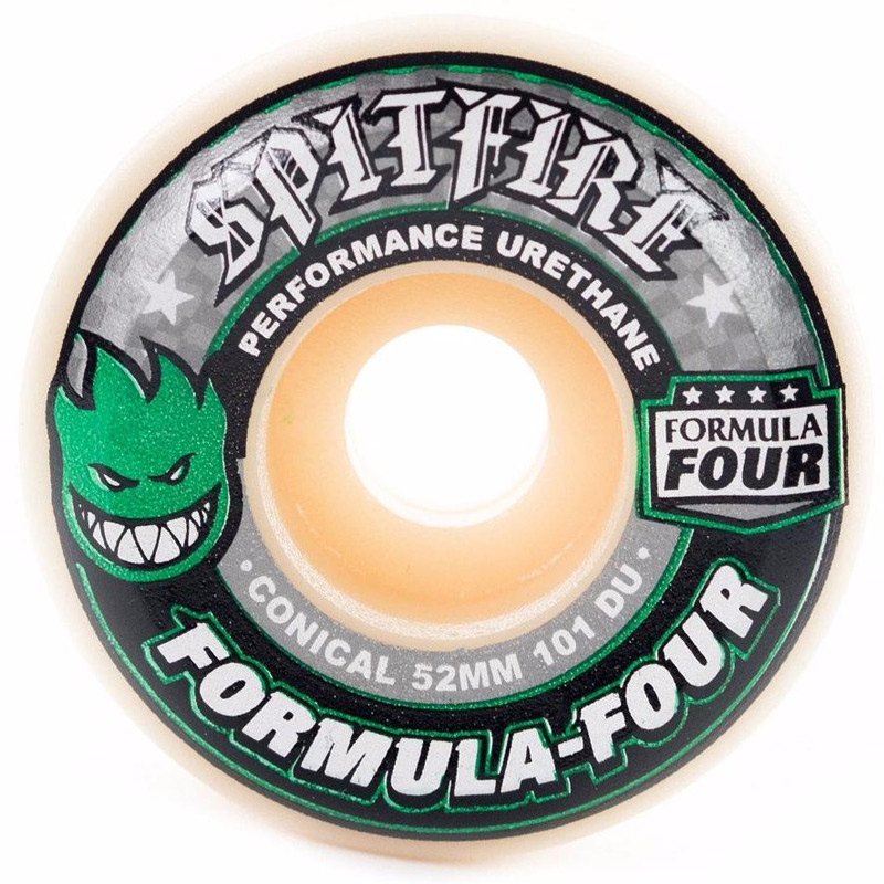 Spitfire Formula Four Conical Wheels Green Print 101D 52mm