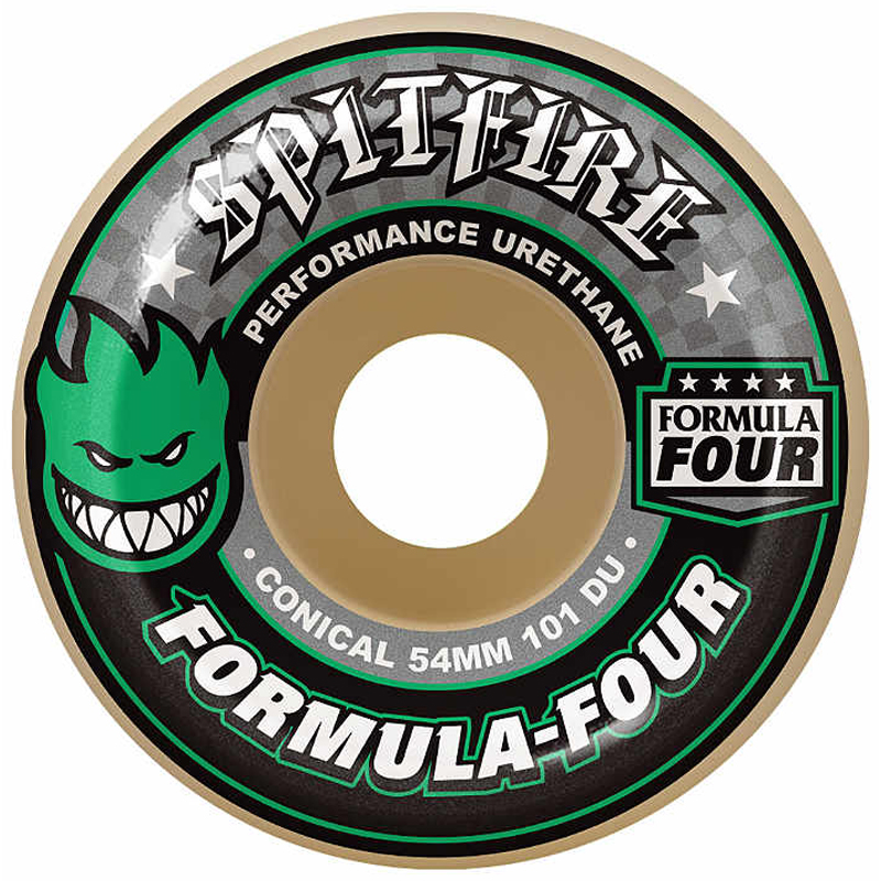 Spitfire Formula Four Conical Wheels 101DU Green 53mm