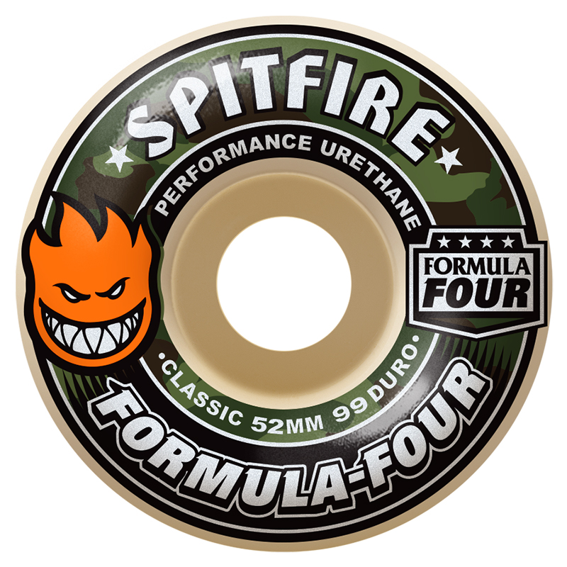 Spitfire Formula Four Covert Classic Wheels Natural 99D 52mm