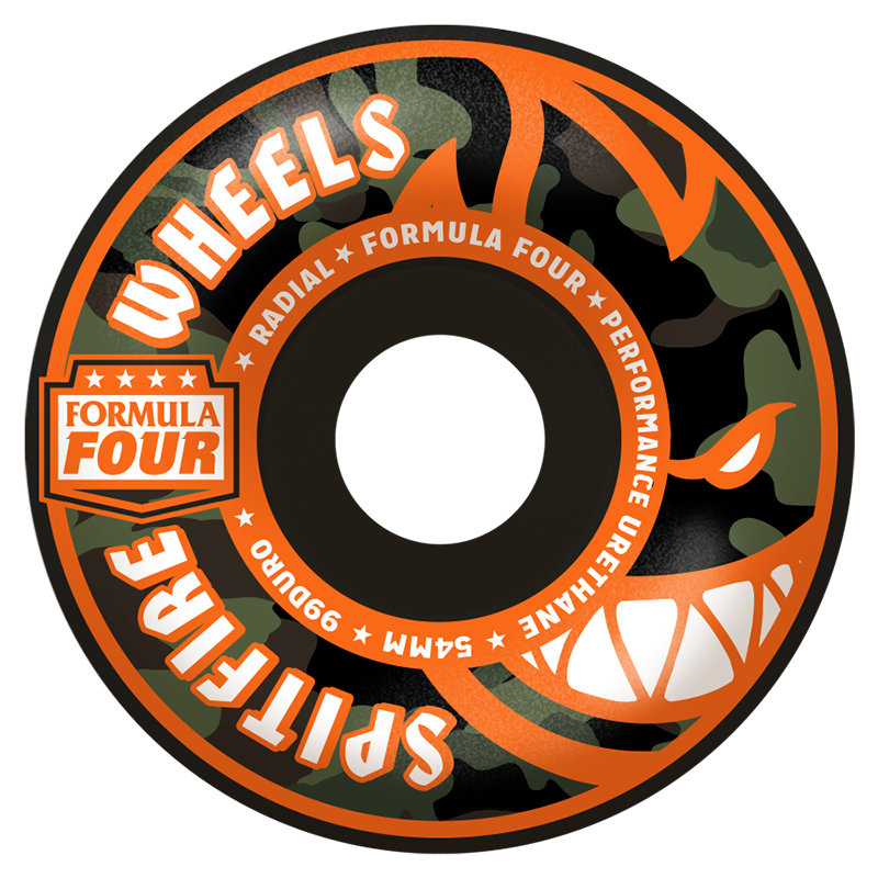 Spitfire Formula Four Covert Radial Wheels Black 99D 54mm