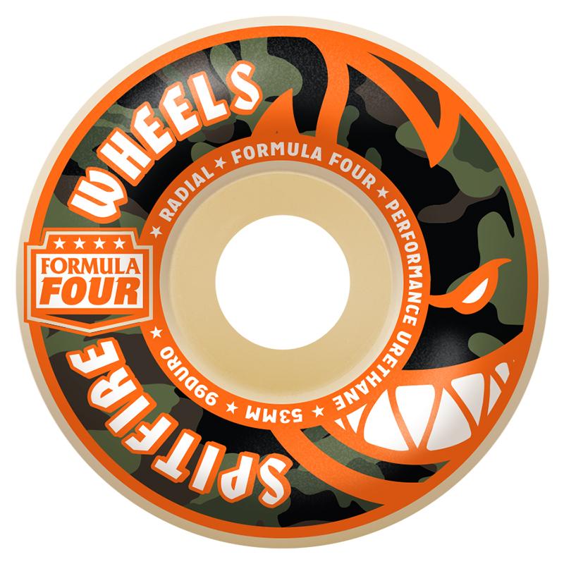 Spitfire Formula Four Covert Radial Wheels Natural 99D 52mm