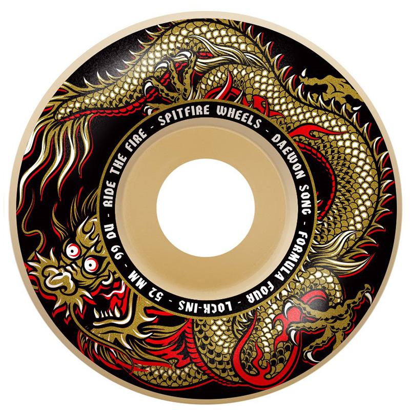 Spitfire Formula Four Daewon Song Fury Lock-ins Wheels Natural 99D 52mm
