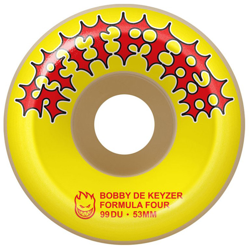 Spitfire Formula Four De Keyzer Two Stroke Conicals Wheels Yellow 99D 53mm