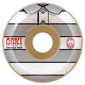 Spitfire Formula Four Oski Conical Wheels 99D White/Grey 53mm
