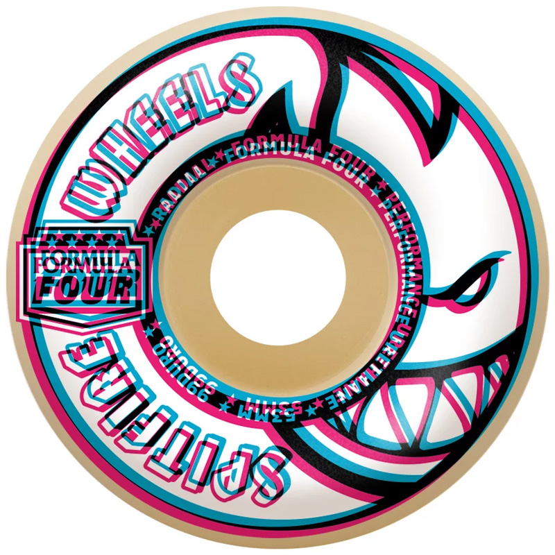 Spitfire Formula Four Overlay Radials Wheels Natural 99D 53mm