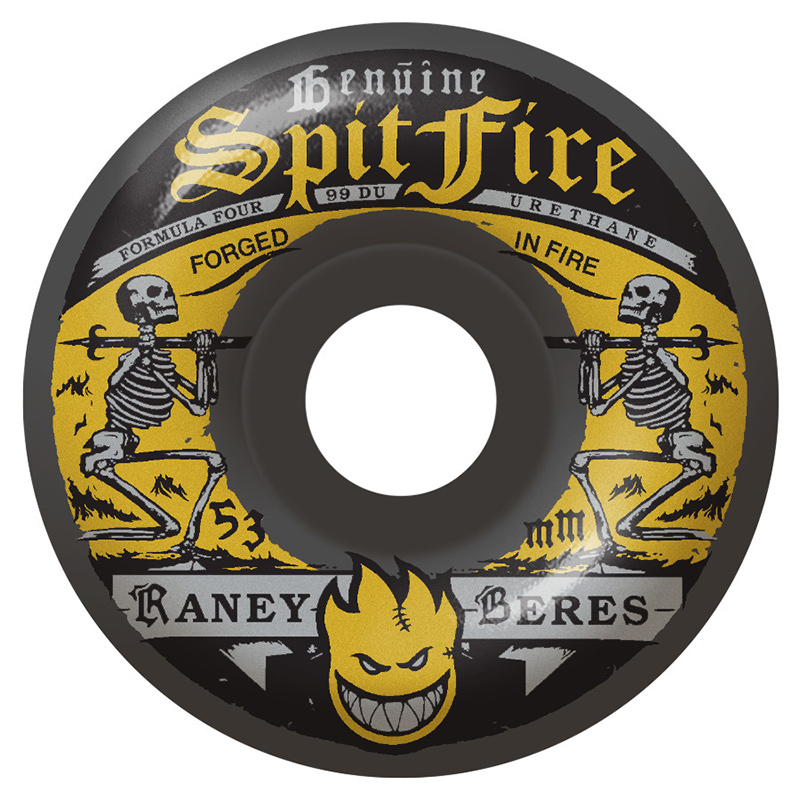 Spitfire Formula Four Raney Firewater Wheels Charcoal 99D 53mm