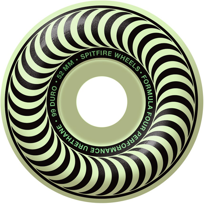 Spitfire Formula Four Stay Lit Classic Wheels 99D Glow 52mm