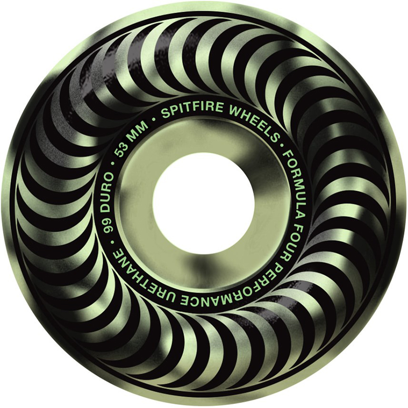 Spitfire Formula Four Stay Lit Classic Wheels 99D Glow 53mm