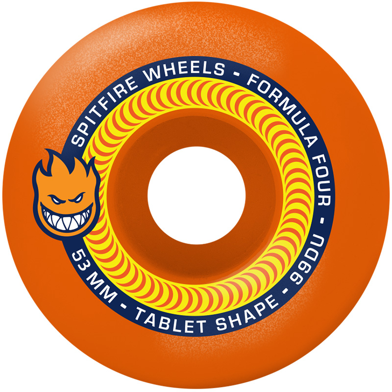 Spitfire Formula Four Tablet 99D Neon Orange 53mm