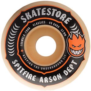 Spitfire X Skatestore Arson Department F4 Wheels Classic 52mm