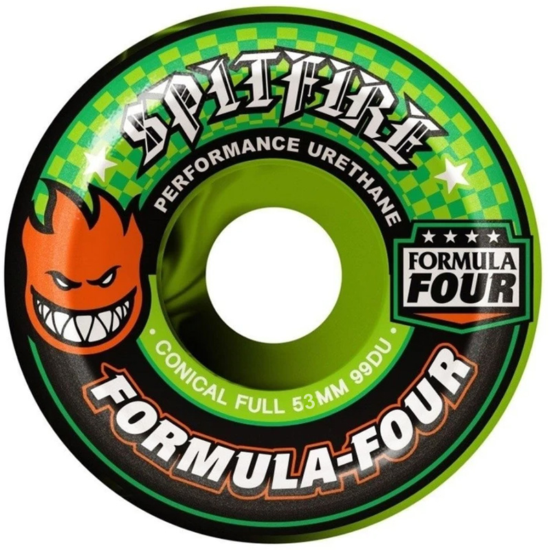 Spitfire Team Color Up Formula Four 99D Conical Full Wheels Swirl 53mm