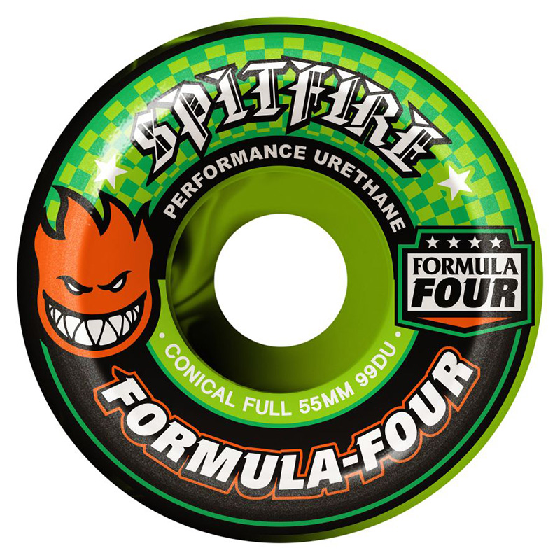 Spitfire Team Color Up Formula Four 99D Conical Full Wheels Swirl 55mm